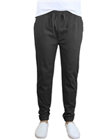 Wholesale Men's Drawstring Stretch Jogger Pants Black
