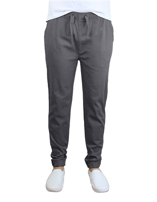 Wholesale Men's Drawstring Stretch Jogger Pants Grey