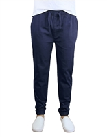 Wholesale Men's Drawstring Stretch Jogger Pants Navy