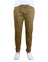 Wholesale Men's Drawstring Stretch Jogger Pants Timber