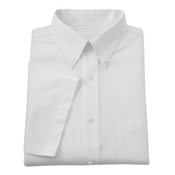 Wholesale Mens Short Sleeve Oxford Shirt In White