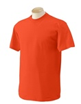 Wholesale Men's Crew Neck T-Shirt in Orange