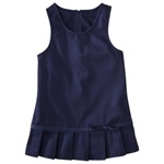 Wholesale Girls School Uniform Pleated Hem Jumper in Navy