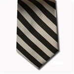 wholesale school uniform neck tie black silver