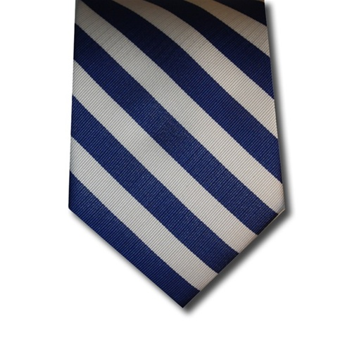 Wholesale school uniform neck tie in royal blue and white stripe alternative views ccuart Gallery