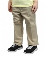 wholesale toddler Flat Front school pants in khaki