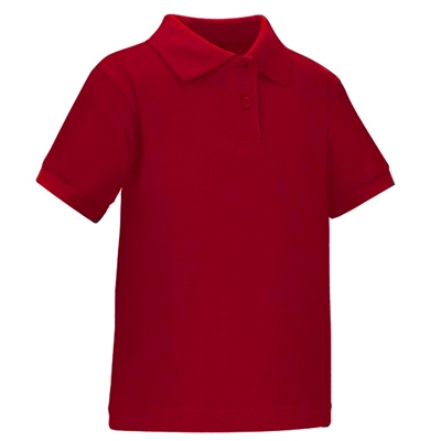 Wholesale toddler short sleeve school uniform polo shirt red for Short sleeve school shirts