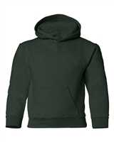 Wholesale Boys Fleece Pullover Hooded Sweatshirt in Dark Green