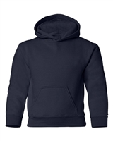Wholesale Boys Fleece Pullover Hooded Sweatshirt in Navy