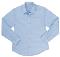 Wholesale Boys Long Sleeve Dress Shirt School Uniform in Blue