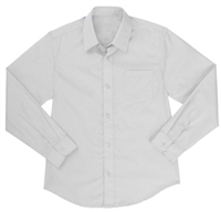 Wholesale Boys Long Sleeve Dress Shirt School Uniform in White