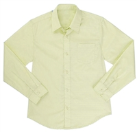 Wholesale Boys Long Sleeve Dress Shirt School Uniform in Yellow