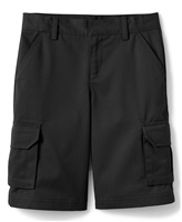 wholesale boys cargo school shorts in black