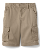 wholesale boys cargo school shorts in khaki