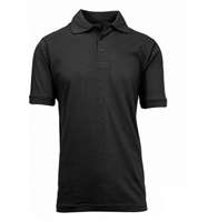 Wholesale Boys Short Sleeve School Uniform Polo Shirt Black