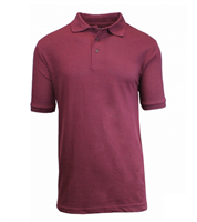 Wholesale Boys Short Sleeve School Uniform Polo Shirt Burgundy