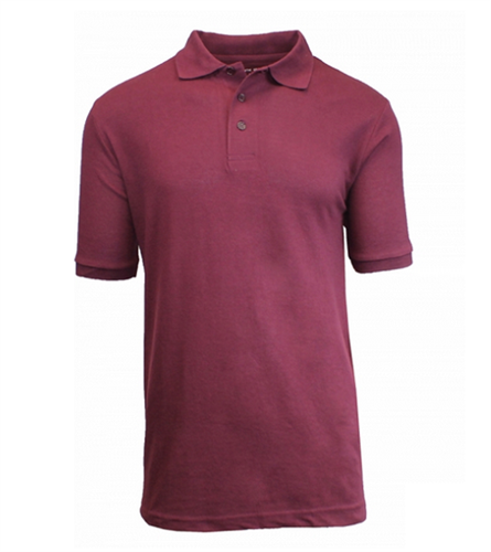 Wholesale boys short sleeve school uniform polo shirt burgundy Burgundy polo shirt boys