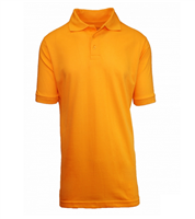 Wholesale Boys Short Sleeve School Uniform Polo Shirt Gold