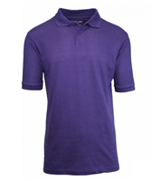 Wholesale Boys Short Sleeve School Uniform Polo Shirt Grape