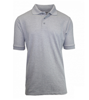 Wholesale Boys Short Sleeve School Uniform Polo Shirt Heather Grey