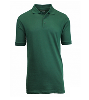 Wholesale Boys Short Sleeve School Uniform Polo Shirt Hunter Green