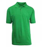 Wholesale Boys Short Sleeve School Uniform Polo Shirt Kelly Green