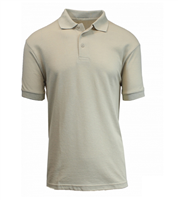 Wholesale Boys Short Sleeve School Uniform Polo Shirt Khaki
