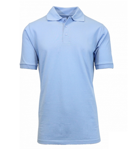 0d30fc47d Wholesale Boys Short Sleeve School Uniform Polo Shirt Light Blue