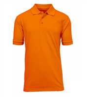 Wholesale Boys Short Sleeve School Uniform Polo Shirt Orange
