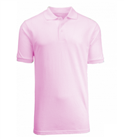 Wholesale Boys Short Sleeve School Uniform Polo Shirt Pink
