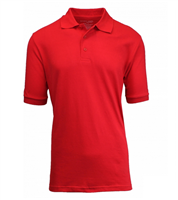 Wholesale Boys Short Sleeve School Uniform Polo Shirt Red