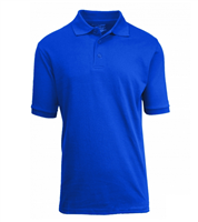 Wholesale Boys Short Sleeve School Uniform Polo Shirt Royal Blue