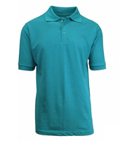 Wholesale Boys Short Sleeve School Uniform Polo Shirt Teal