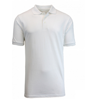 Wholesale Boys Short Sleeve School Uniform Polo Shirt White