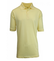 Wholesale Boys Short Sleeve School Uniform Polo Shirt Yellow