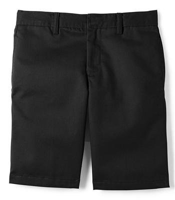 Wholesale Boys School Uniform Flat Front Shorts In Black