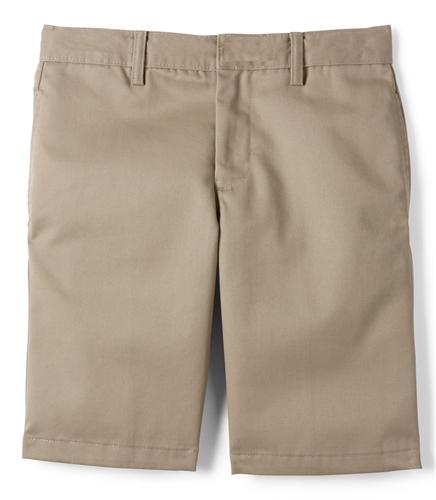 Wholesale Boys School Uniform Flat Front Shorts in Khaki