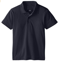 Wholesale Boys Dri Fit Performance Short Sleeve School Uniform Polo Shirt Navy Blue