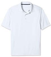 Wholesale Boys Dri Fit Performance Short Sleeve School Uniform Polo Shirt White