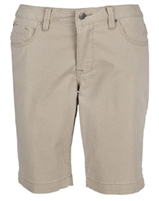 Wholesale Girl's School Uniform Bermuda Length Shorts in Khaki by Size