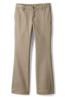 Wholesale Girl's School Uniform Stretch Straight Leg Pants in Khaki