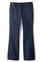 Wholesale Girl's School Uniform Stretch Straight Leg Pants in Navy Blue