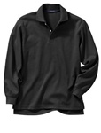 Wholesale Girls Long Sleeve School Uniform Polo Shirt Black