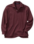 Wholesale Girls Long Sleeve School Uniform Polo Shirt Burgundy