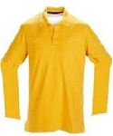 Wholesale Girls Long Sleeve School Uniform Polo Shirt Gold