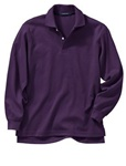 Wholesale Girls Long Sleeve School Uniform Polo Shirt Purple