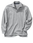 Wholesale Girls Long Sleeve School Uniform Polo Shirt Heather Gray