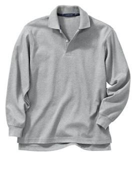 cf6fc0063 Wholesale Girls Long Sleeve School Uniform Polo Shirt in Heather ...