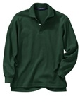Wholesale Girls Long Sleeve School Uniform Polo Shirt Hunter Green