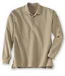 Wholesale Girls Long Sleeve School Uniform Polo Shirt Khaki